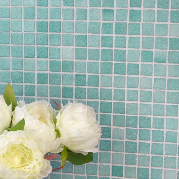 Colgadilla Square 0.88 x 0.88 Glass Mosaic Tile in Niebla Azul by EliteTile