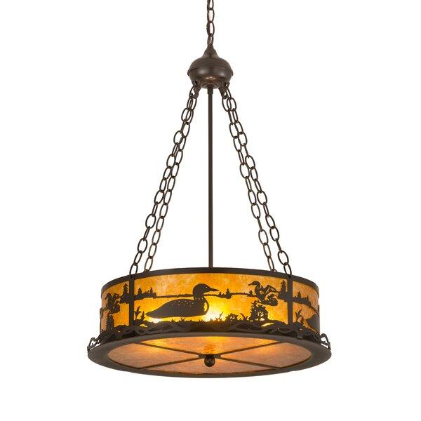 Loon 4-Light Unique / Statement Drum Chandelier By Meyda Tiffany