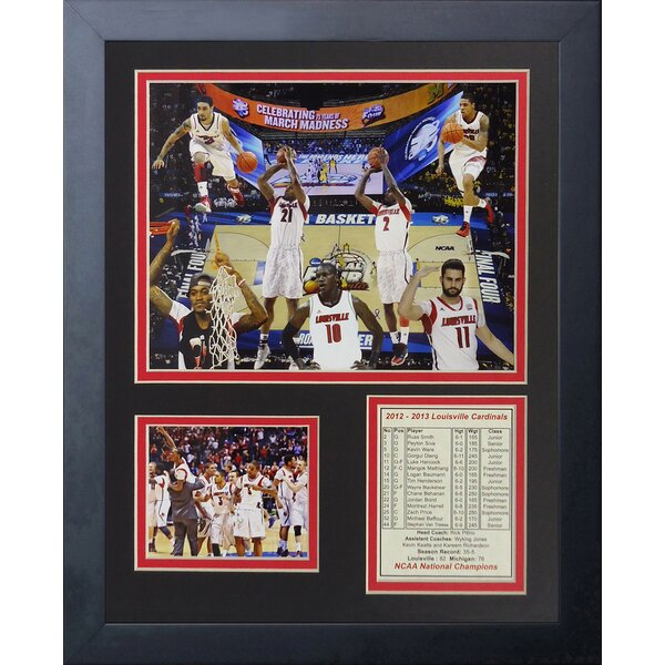 2013 Louisville Cardinals Champions Framed Photographic Print by Legends Never Die