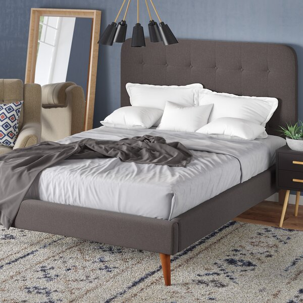 June Mid Century Queen Upholstered Platform Bed by Langley Street