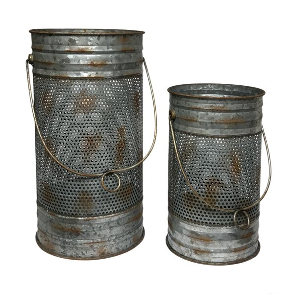 2 Piece Mesh Metal Lantern Set by Gracie Oaks