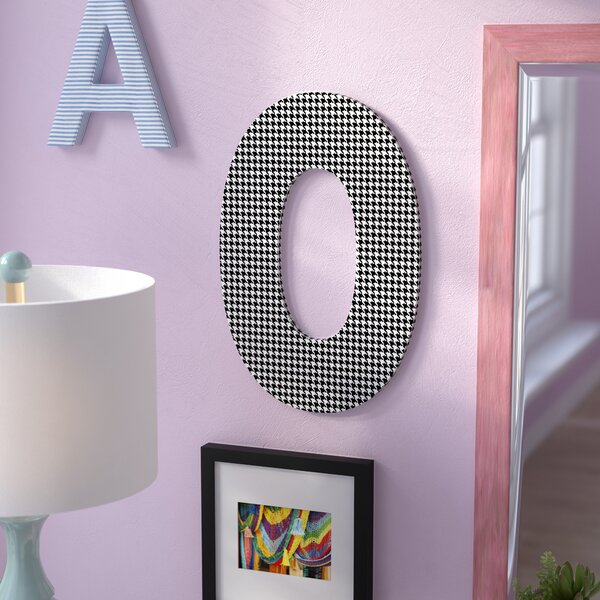 Tyrik Houndstooth Letter Hanging Initial by Viv + Rae