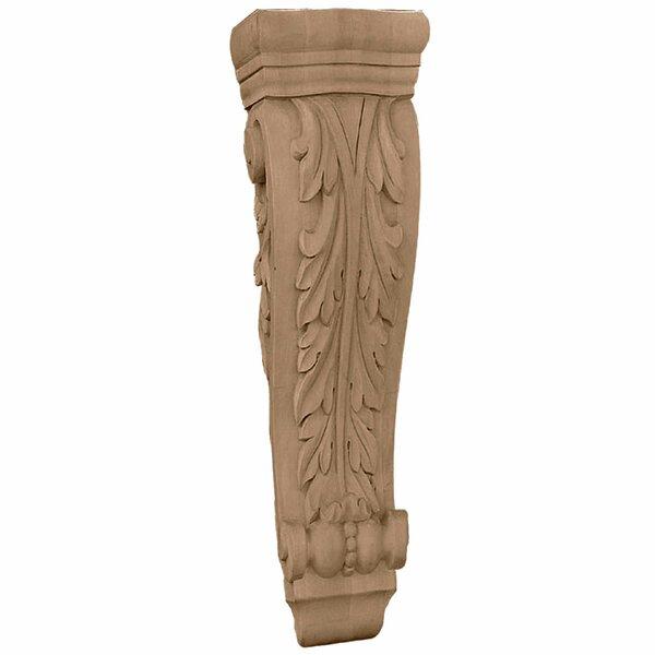 Farmingdale Acanthus 35H x 8 1/4W x 4 3/4D Extra Large Pilaster Corbel in Alder by Ekena Millwork