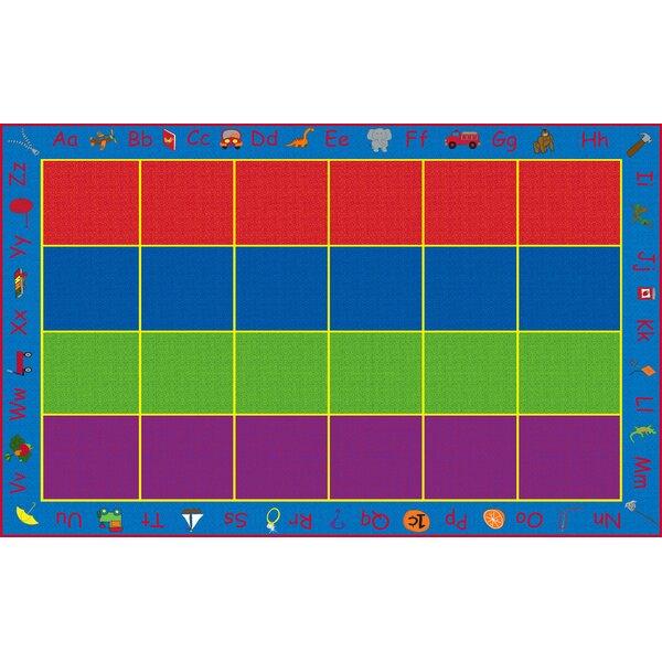 ABC Rainbow Seating Area Rug by Kid Carpet