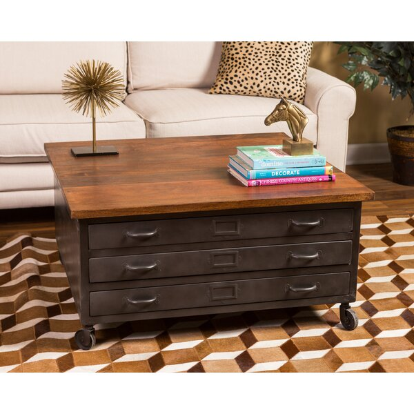 Borquez Wheel Coffee Table With Storage By Darby Home Co