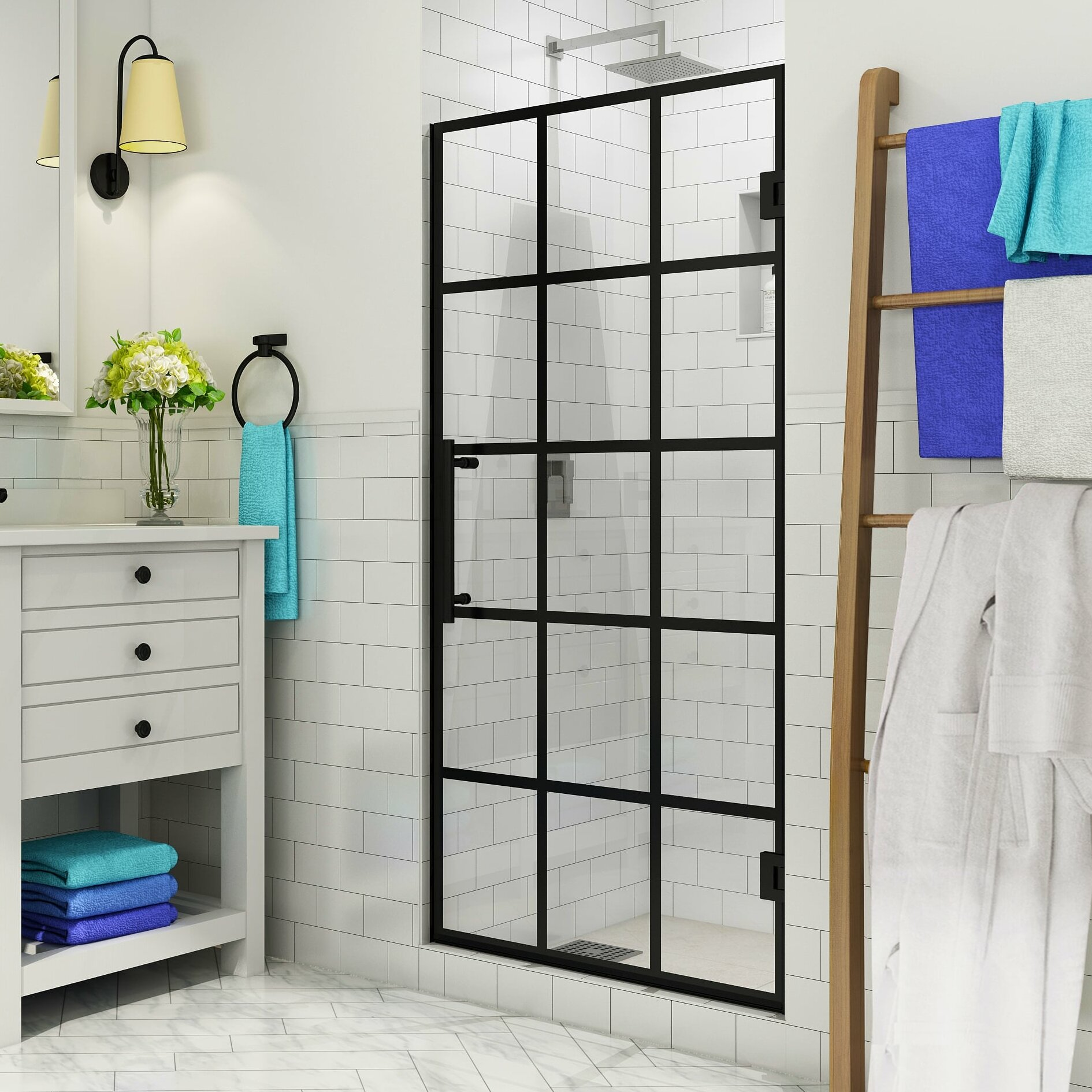 French Mayenne 29 X 72 Hinged Frameless Shower Door