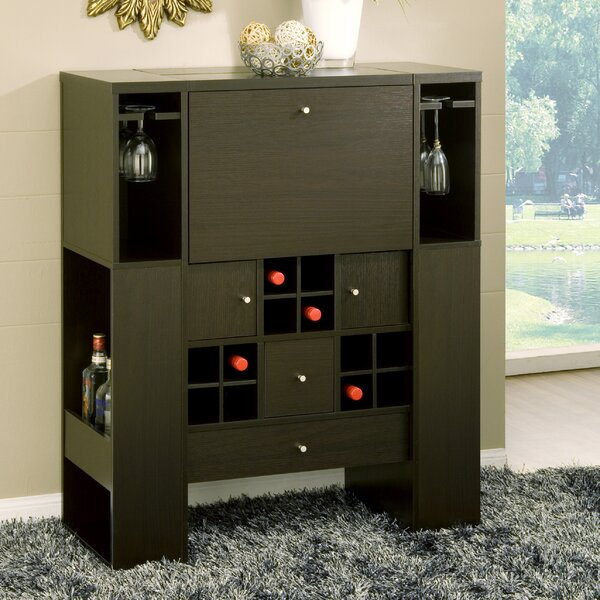 Jed Deluxe 12 Bottle Floor Wine Cabinet by Hokku Designs
