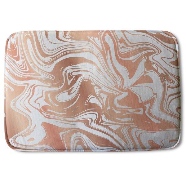Brooksburg Marble Designer Rectangle Non-Slip Bath Rug