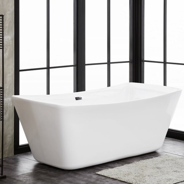 Modena 67 x 31 Freestanding Soaking Bathtub by Finesse