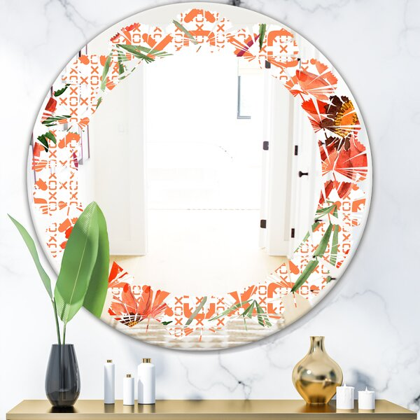 Leaves Floral Botanical I Cottage Americana Frameless Wall Mirror