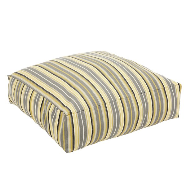 Delacruz Striped Sunbrella Knife Edge Square Euro Pillow by Darby Home Co
