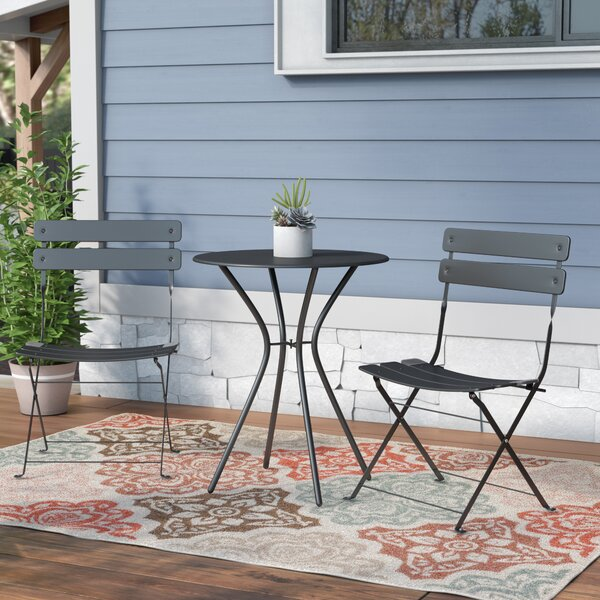 Lawncrest 3 Piece Dining Set by Wrought Studio