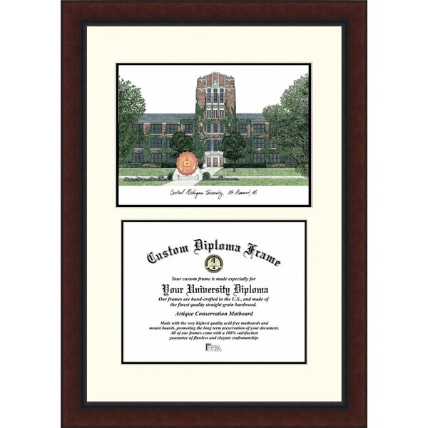 NCAA Central Michigan University Legacy Scholar Diploma Picture Frame by Campus Images