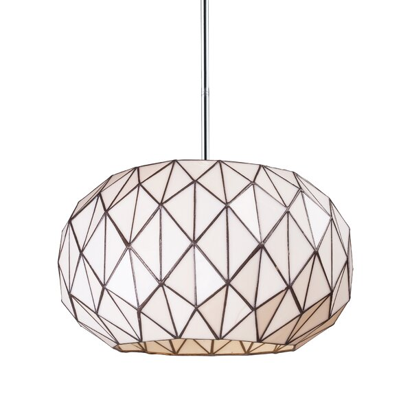 Alfredo 3-Light Geometric Chandelier by Langley Street