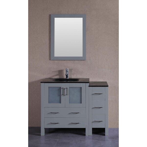 Vines 42 Single Bathroom Vanity Set with Mirror by Bosconi