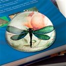 Dragonfly Crystal Dome Paperweight by Value Arts Company