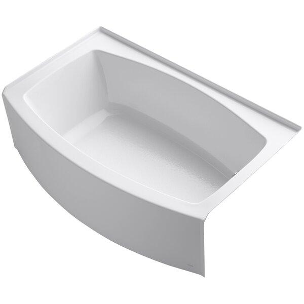 Expanse Alcove 60 x 32 Soaking Bathtub by Kohler