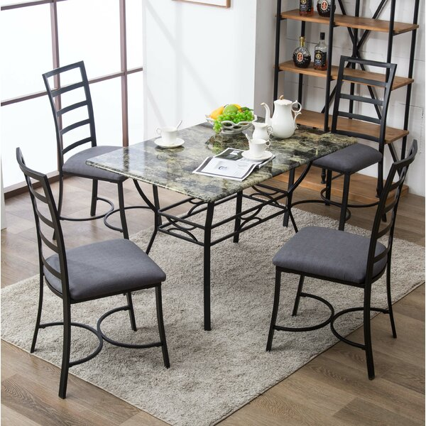 #1 Stemple 5 Piece Dining Set By Red Barrel Studio Coupon