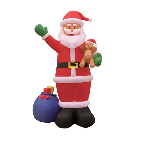 Christmas Inflatable Santa and Gift Bag Decoration by The Holiday Aisle