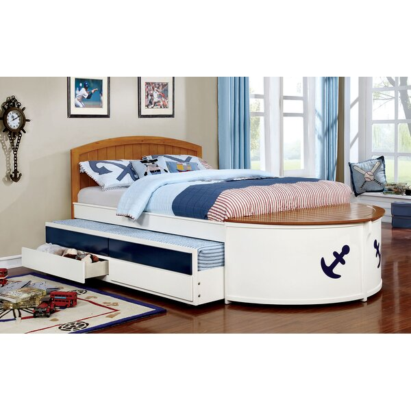 Hogansville Platform Bed with Trundle and Drawer by Zoomie Kids