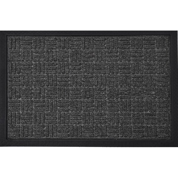 Yvan Outdoor Checkerboard Polypropylene Rubber Doormat by Evideco