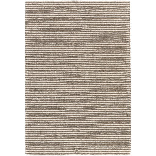 Acton Hand-Woven Dark Brown/Medium Gray Area Rug by Langley Street