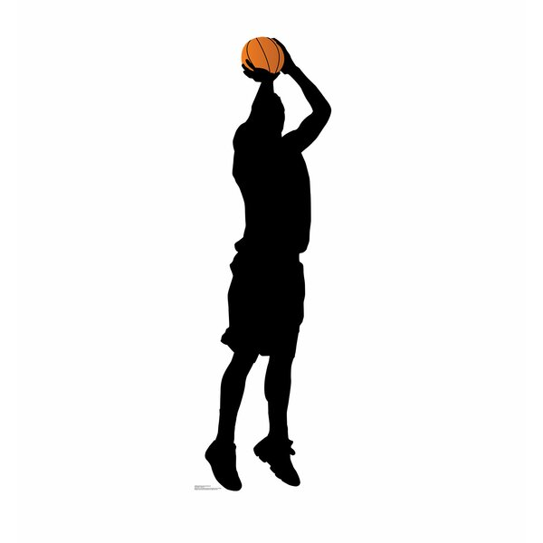 Basketball Player Shooting Silhouette Standup by Advanced Graphics