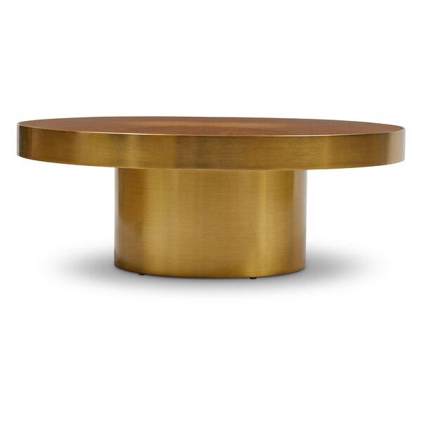 Damita Pedestal Coffee Table By Everly Quinn