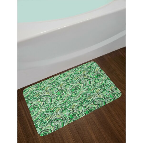 Asian Classic Design Swirl Doodle Bath Rug by East Urban Home