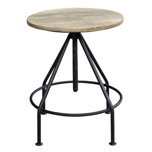 Collinsville Solid Wood Adjustable Height Bar Stool by Williston Forge Williston Forge