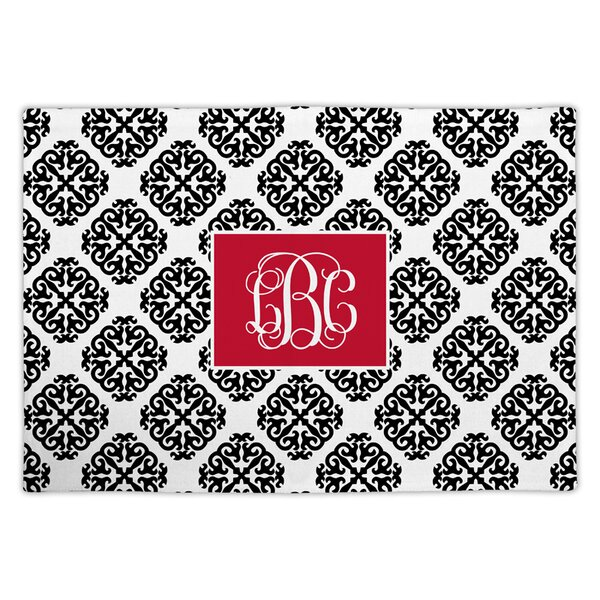 Marakesh Script Monogram Fabric Placemat by Chatsworth