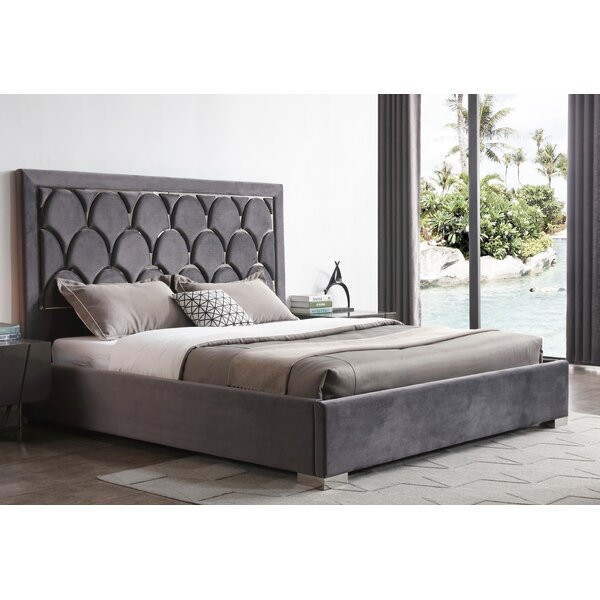 Angela Upholstered Platform Bed with Mattress by Everly Quinn