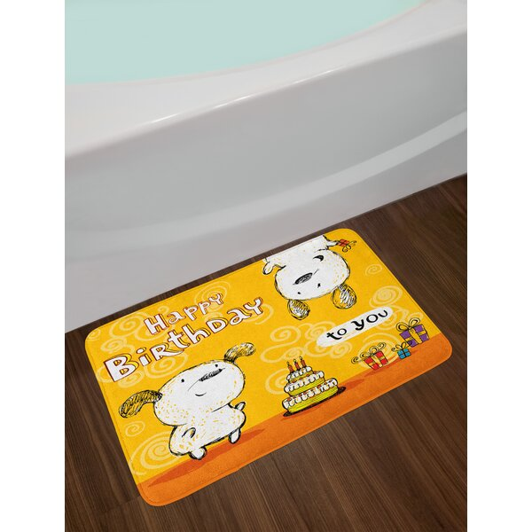 Birthday Backing Bath Rug by East Urban Home