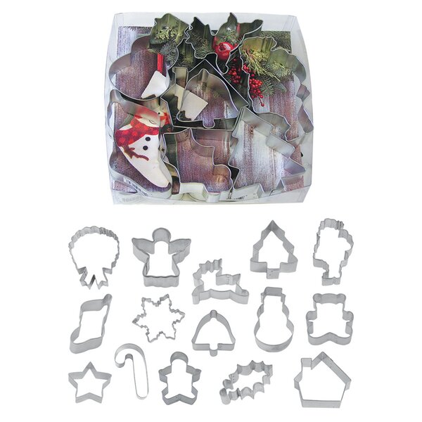 15 Piece Christmas Cookie Cutter Gift Set by R & M