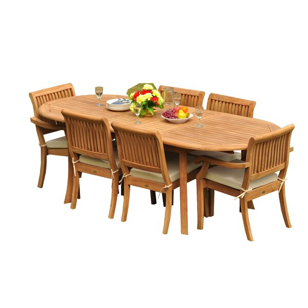 Masten 7 Piece Teak Dining Set by Rosecliff Heights