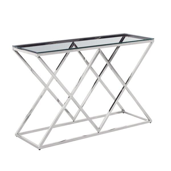 Clarendon Diamond Console Table By Orren Ellis