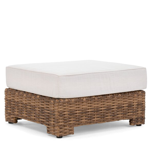 Nico Outdoor Ottoman with Sunbrella Cushion by Winston