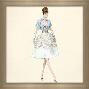 Party Dress Barbie® Doll by Robert Best Framed Painting Print by Picture Perfect International