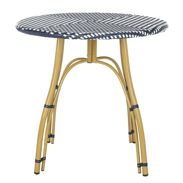 Ede Plastic Bistro Table by Bungalow Rose