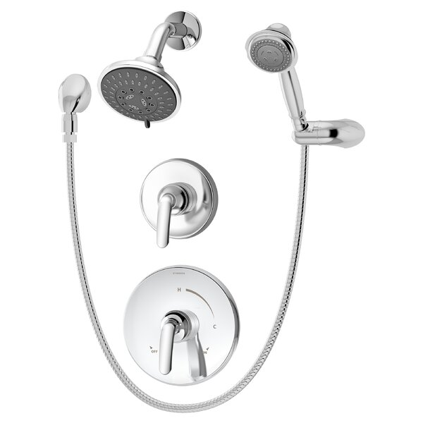 Elm Shower Trim Only Package with Multi Function Shower Head and Hand Shower and Double Lever Handle - Less Rough In Valve by Symmons