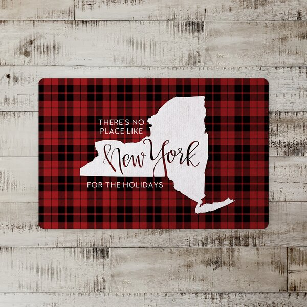 Taniya There's No Place Like New York for the Holidays Kitchen Mat