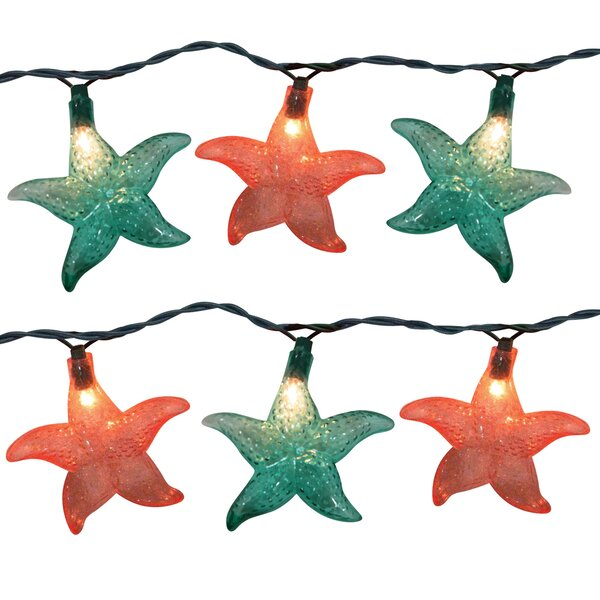 10 Light Starfish String Light (Set of 2) by Brite Star