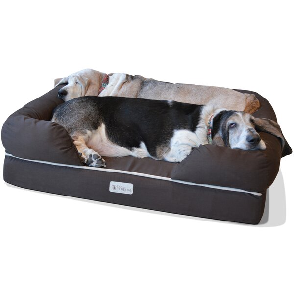 Ultimate Dog Bolster with Solid Memory Foam by PetFusion