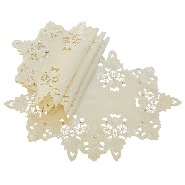 Victorian Lace Embroidered Cutwork Placemat (Set of 4) by Xia Home Fashions