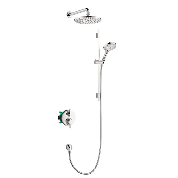 Raindance S Thermostatic Complete Shower System With Rough-in Valve By Hansgrohe