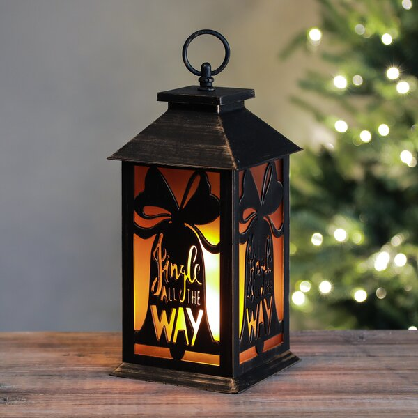 Holiday Bells LED Flame Lantern Lamp by The Holiday Aisle