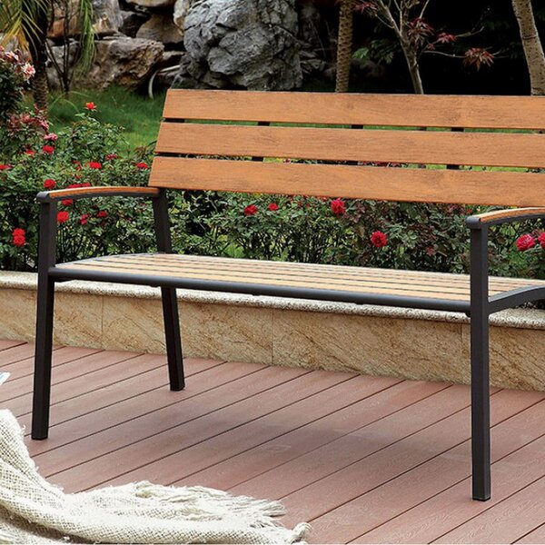 Carin Aluminium Garden Bench by Wrought Studio