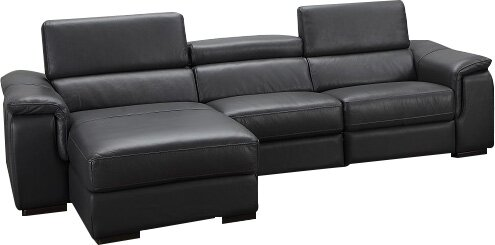 Tyrese Leather Sectional By Orren Ellis