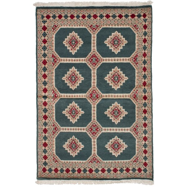 One-of-a-Kind Do Hand-Knotted Wool Dark Teal Area Rug by Isabelline