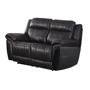 Chastain Leather Reclining Loveseat by Andover Mills